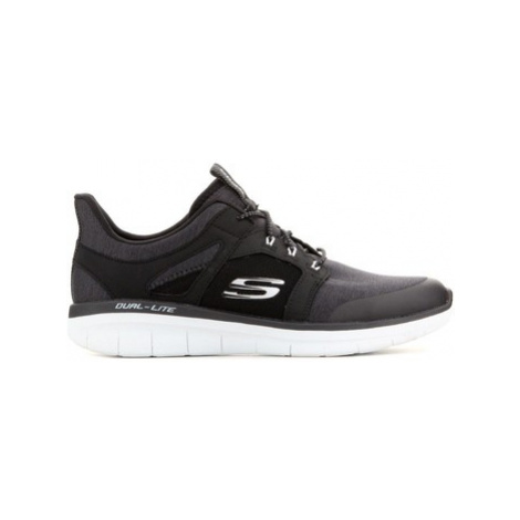 Skechers Synergy 2.0 Chekwa 52652-BKW men's Shoes (Trainers) in Black