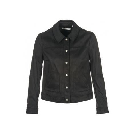 Naf Naf BILIANA women's Leather jacket in Black