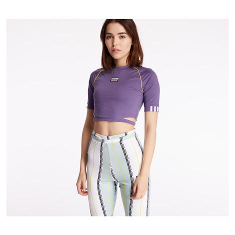 adidas Cropped Tee Tech Purple