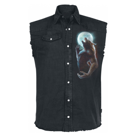 Spiral - Wild Moon - Sleeveless workershirt - black