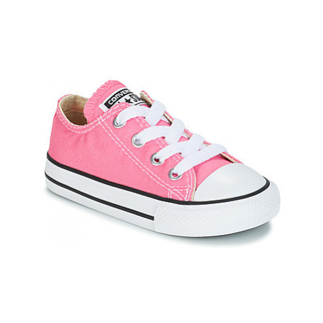 Converse ALL STAR OX girls's Children's Shoes (Trainers) in Pink
