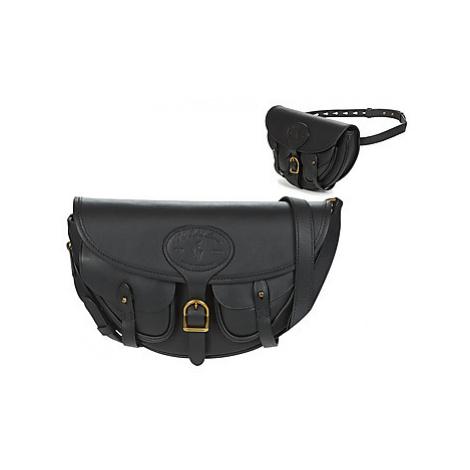Polo Ralph Lauren HUTTON CONV BELT BAG EMBBOSSED LTHR women's Shoulder Bag in Black