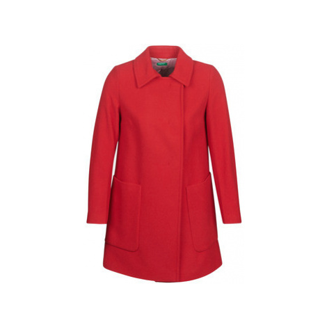 Benetton MOUNAK women's Coat in Red United Colors of Benetton