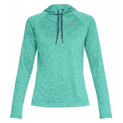 Under Armour TECH LS HOODY 2.0 green - Women's lightweight sweatshirt