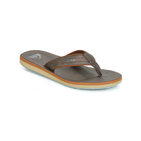 Quiksilver CARVER NUBUCK M SNDL CTK1 men's Flip flops / Sandals (Shoes) in Brown