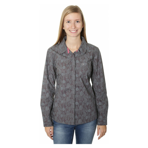 shirt Brakeburn Sketchy Leaves LS - Rabbit/Gray