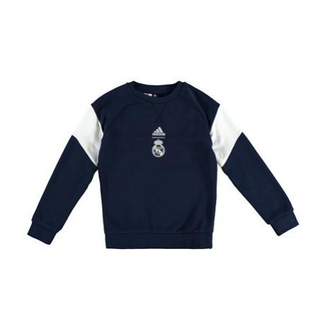 Real Madrid Crew Sweat - Navy - Kids Adidas
