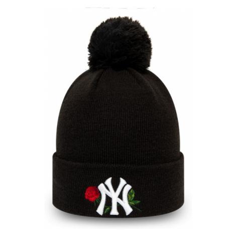 New Era MLB TWINE BOBBLE KNIT KIDS NEW YORK YANKEES black - Girls' winter hat