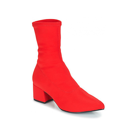 Vagabond MYA women's Low Ankle Boots in Red