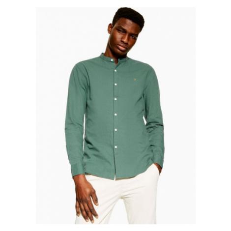 Mens Green Farah Grandad Shirt*, Green