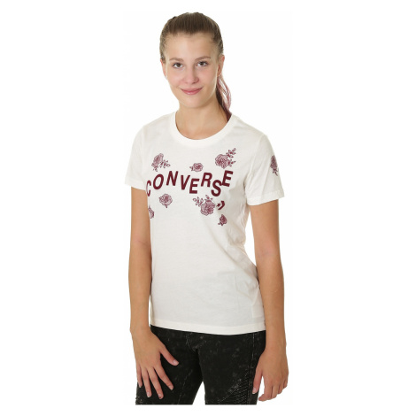 T-Shirt Converse Floral Crew/10007064 - A01/Egret - women´s