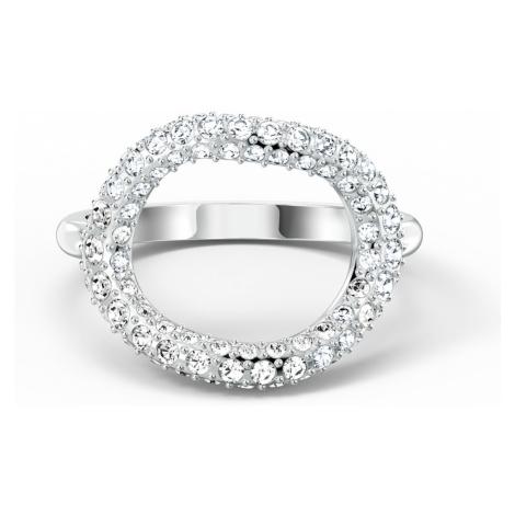 The Elements Air Ring, White, Rhodium plated Swarovski