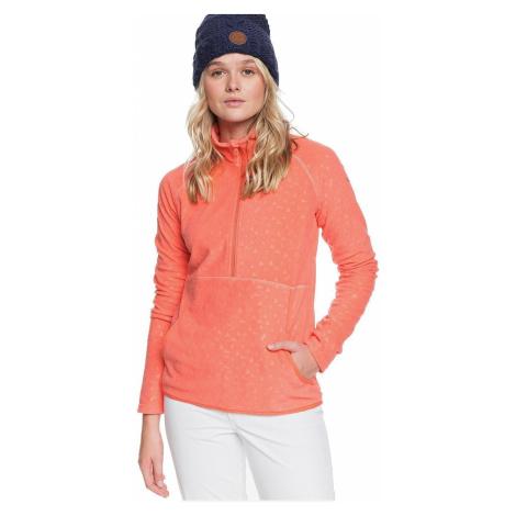 sweatshirt Roxy Cascade - MJL5/Living Coral Risingpeak Embos - women´s
