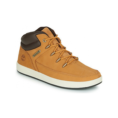 Timberland DAVIS SQUARE TDEUROSPRINT girls's Children's Shoes (High-top Trainers) in Brown
