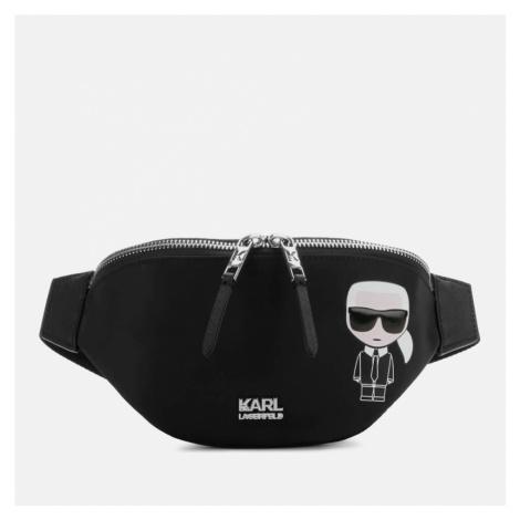 Karl Lagerfeld Women's K/Ikonik Nylon Bum Bag - Black