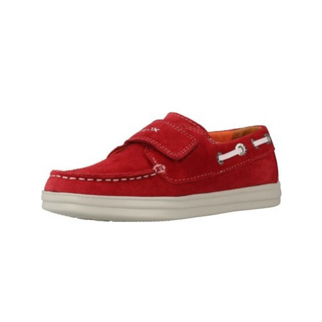 Geox J ANTHOR BOY boys's Children's Boat Shoes in Red