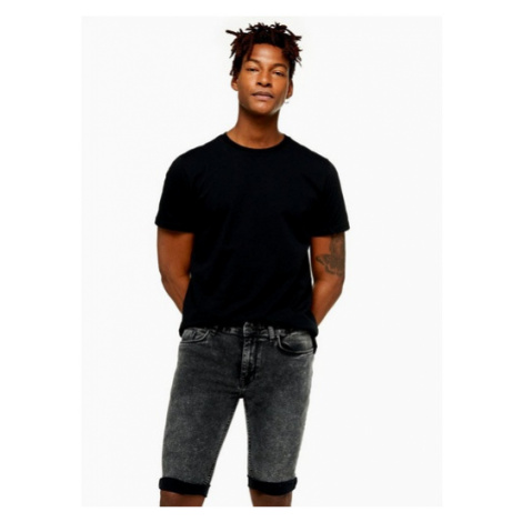 Mens Black Antioch Spray On Skinny Shorts*, BLACK