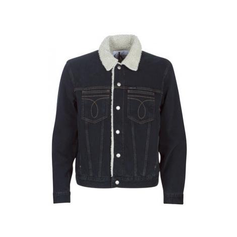 Calvin Klein Jeans ICONIC OMEGA SHERPA DENIM JACKET men's Denim jacket in Blue