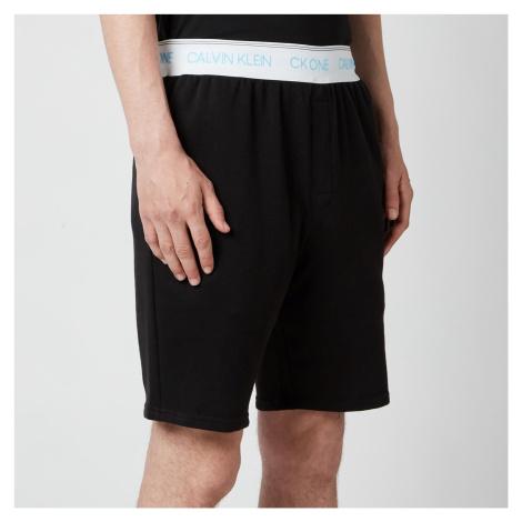 Calvin Klein Men's Contrast Waistband Sleep Shorts - Black