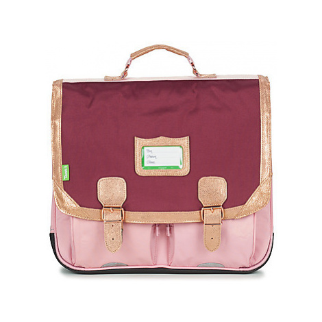 Pink girls' school bags and pencil cases