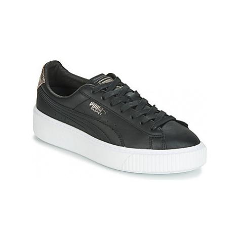 Puma WN SUEDE PLATFM OPULENT.BL women's Shoes (Trainers) in Black