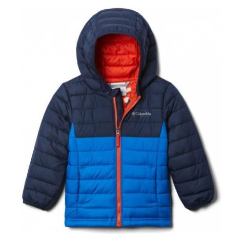 Columbia POWDER LITE BOYS HOODED JACKET blue - Boys' jacket