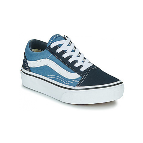 Vans UY OLD SKOOL girls's Children's Shoes (Trainers) in Blue