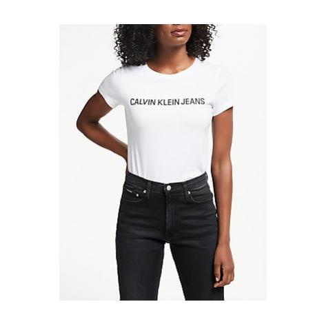 Calvin Klein Jeans Institutional Logo T-Shirt, Bright White