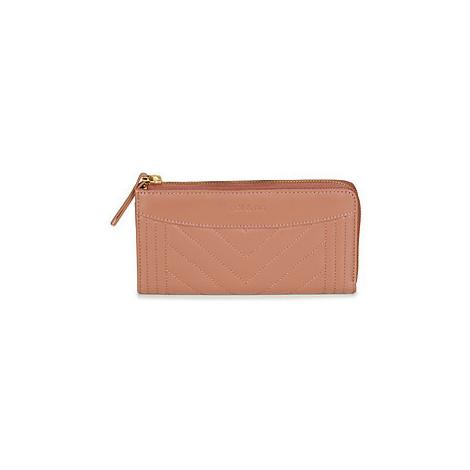 Pink women's wallets