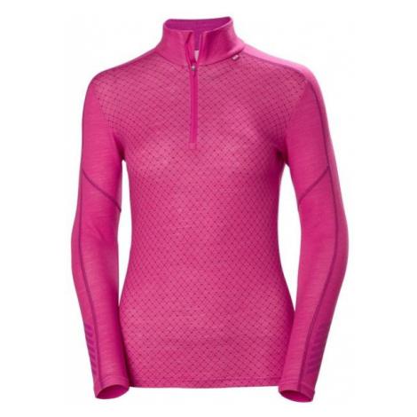 Helly Hansen LIFA MERINO GRAPHIC 1/2 ZIP pink - Women's T-shirt