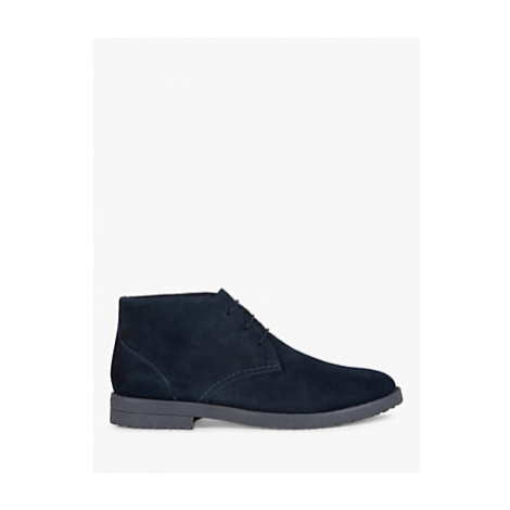 Geox Brandled Leather Desert Boots, Navy
