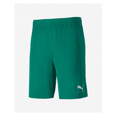 Green men's training shorts