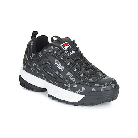 Fila DISRUPTOR LOGO LOW WMN women's Shoes (Trainers) in Black