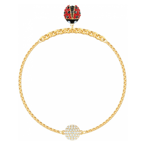 Swarovski Remix Collection Ladybug Strand, Multi-coloured, Gold-tone plated