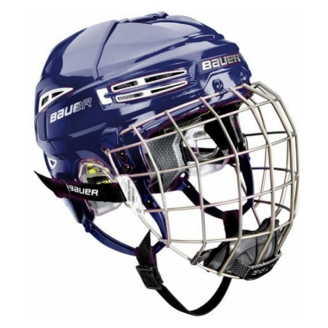 Bauer RE-AKT 100 YTH COMBO blue - Kids' helmet with a facemask