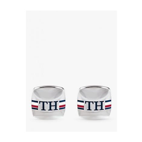 Tommy Hilfiger Stripe Square Cufflinks, Silver