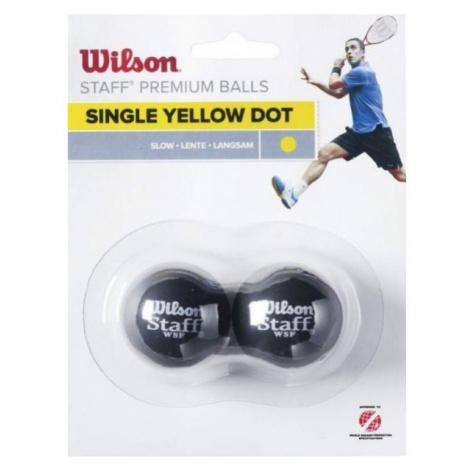 Wilson STAFF SQUASH 2 BALL YEL DOT - Squash ball