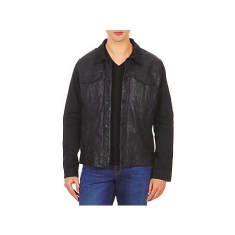 Chevignon BREWA men's Leather jacket in Blue
