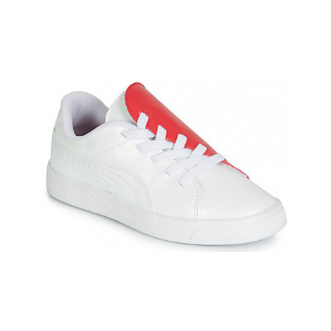 Puma PS BKT CRUSH PATENT AC.W-H girls's Children's Shoes (Trainers) in White