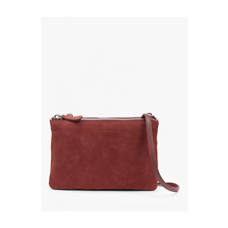 Coccinelle Coralie Suede Leather Mini Bag, Marsala