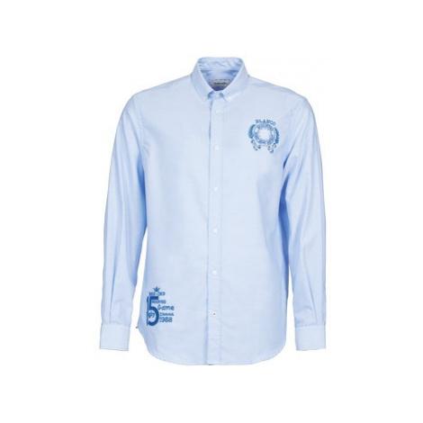 Serge Blanco ANTONIO men's Long sleeved Shirt in Blue