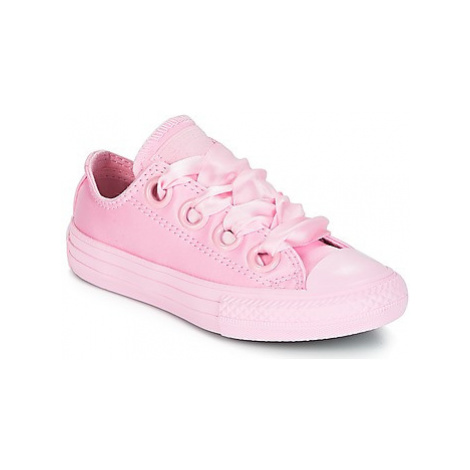 Converse Chuck Taylor All Star Big Eyelet-Slip girls's Children's Shoes (Trainers) in Pink
