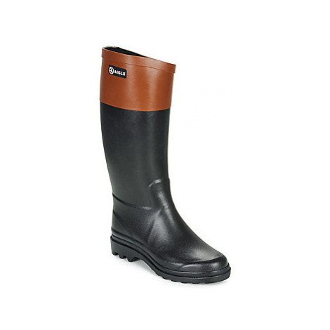 Aigle AIGLENTINE COLOR BLOCK women's Wellington Boots in Black