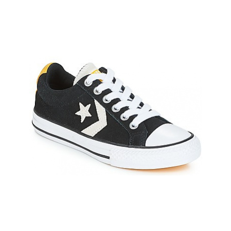 Converse STAR PLAYER OX girls's Children's Shoes (Trainers) in Black