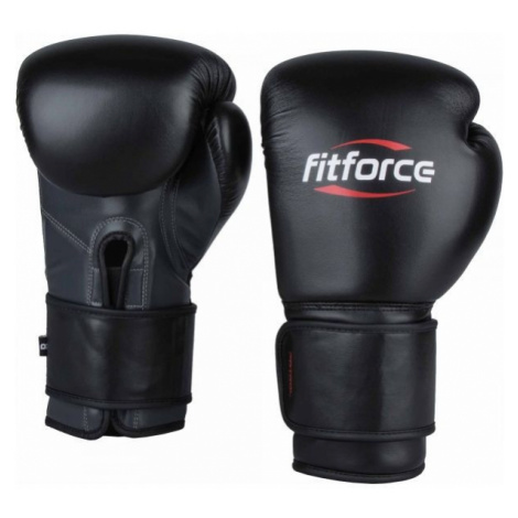 Fitforce PATROL black - Training boxing gloves