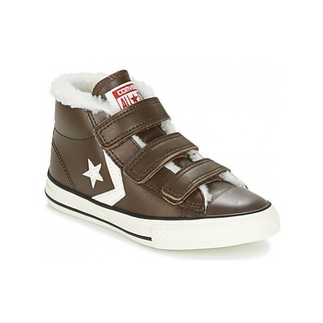 Converse STAR PLAYER EV V girls's Children's Shoes (High-top Trainers) in Brown
