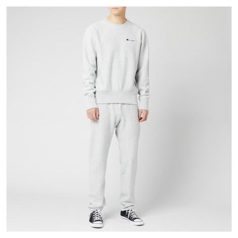 Champion Men's Small Script Sweatshirt - Grey Marl