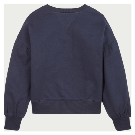 Tommy Hilfiger Girls' Iridescent Badge Crew Neck Sweatshirt - Twilight Navy