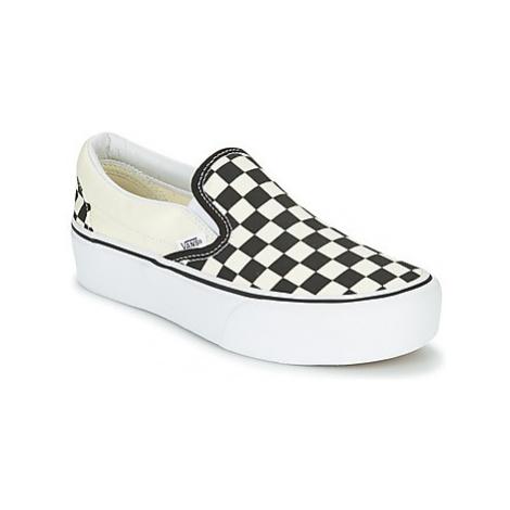 White women's slip-on shoes