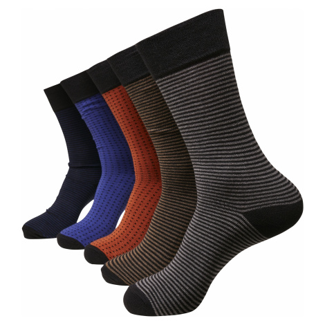 Urban Classics Stripes and Dots Socks 5-Pack Socks multicolour
